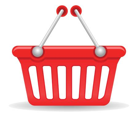 gift basket: Shopping basket, vector EPS version 8