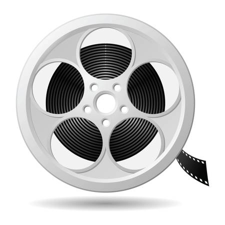 reel: Film reel, vector eps version 8