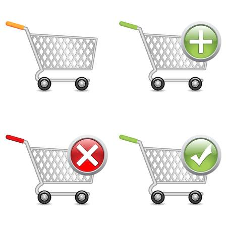 add to cart: Shopping cart, vector EPS version 8.