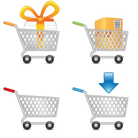 add to cart: Shopping Cart, vector EPS version 8