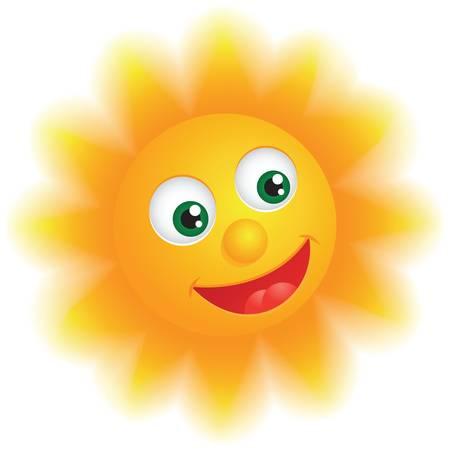 Happy Sun Stock Vector - 17307589