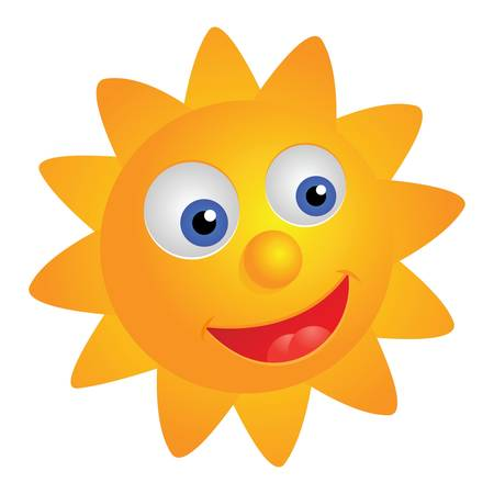 Smiling sun, vector illustration Vector