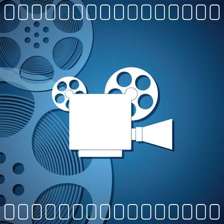 film roll: Cinema background with a camera film