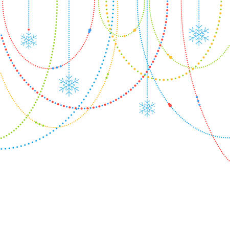 new years day: Abstract Christmas Background Illustration