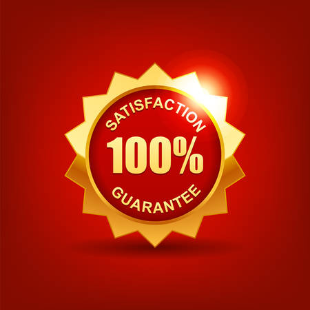 Customer satisfaction guaranteed  Vector EPS 10