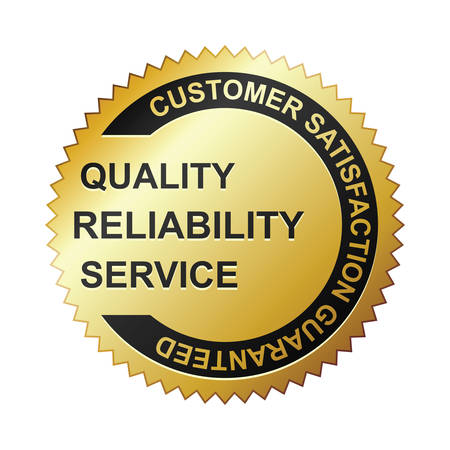 Customer satisfaction guaranteed gold badge