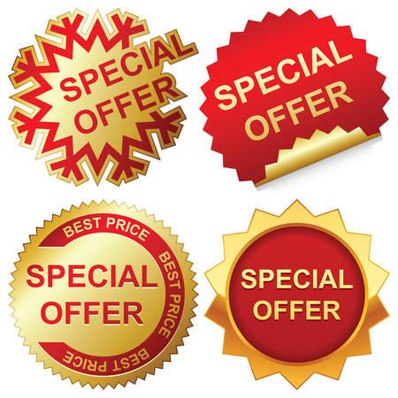 Vector special offer labels set Illustration
