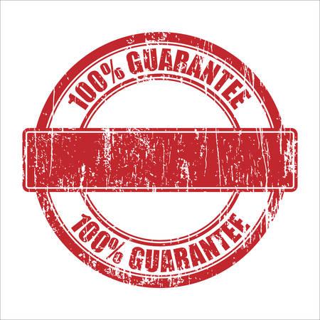 100% Guarantee - template stamp Vector