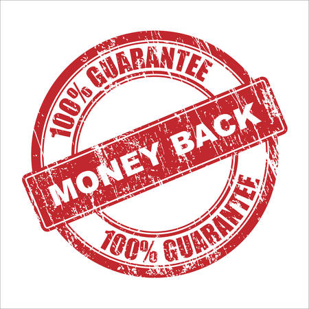 e money: Money back vector stamp