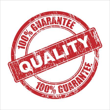 qualitative: Vector quality stamp Illustration