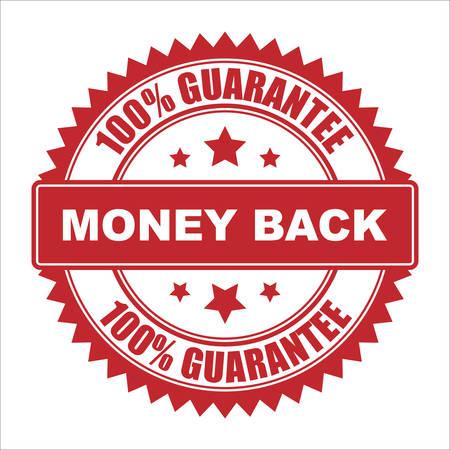 100% Money back guarantee  イラスト・ベクター素材