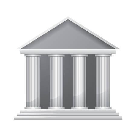 derecho romano: Símbolo edificio del Banco Vectores