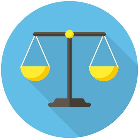 balanza: Icono del balance (dise�o plano con largas sombras) Vectores