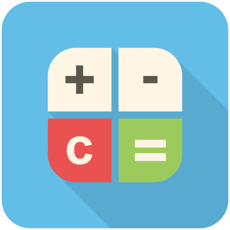 design element: Calculator icon (flat design with long shadows)