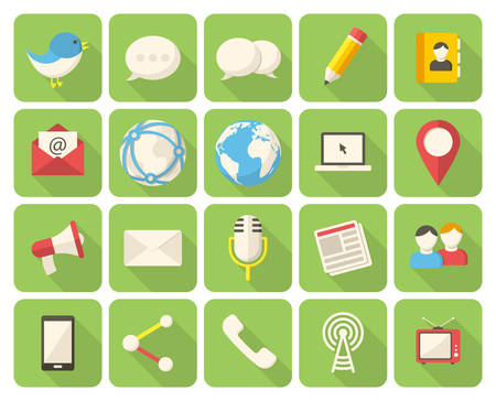 mail: Media and communication icons Illustration