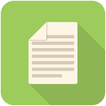 Articles, modern flat icon with long shadow