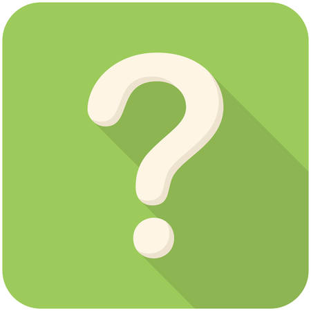 a question mark: Question, modern flat icon with long shadow