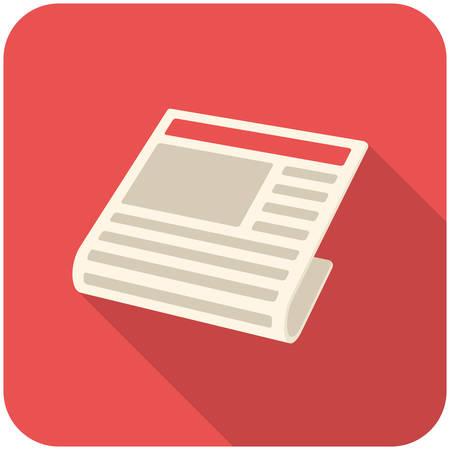 Nieuws, moderne platte icoon met lange schaduw