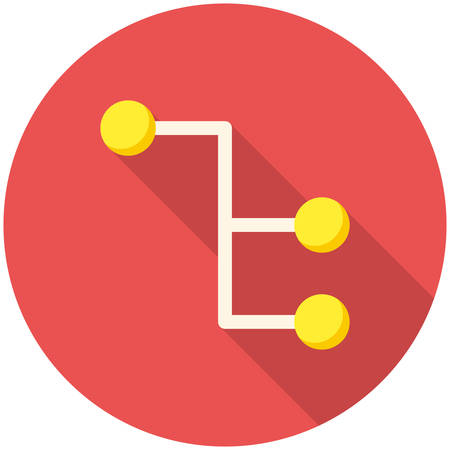 Sitemap, modern flat icon with long shadow Illustration