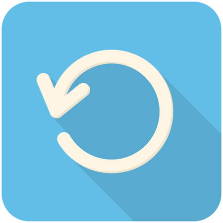 refresh button: Refresh, modern flat icon with long shadow Illustration