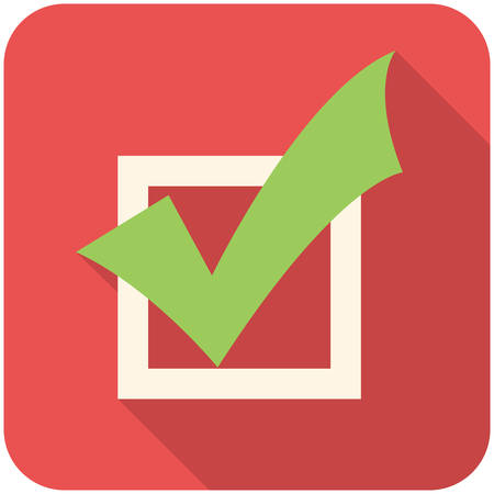 tasks: Completed Tasks, modern flat icon with long shadow