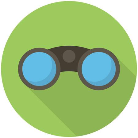 binocular: Binocular, Looking for opportunitis , modern flat icon with long shadow
