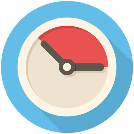 last day: Time management, modern flat icon with long shadow