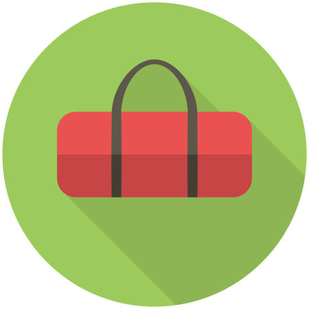 holdall: Sports bag, modern flat icon with long shadow