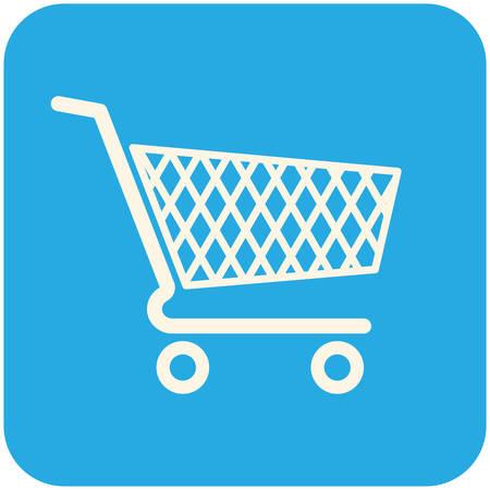 Shopping cart icon, moderne platte ontwerp Stock Illustratie