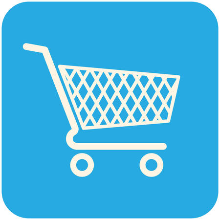 Shopping cart icon, modern flat design