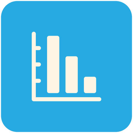 graph down: Graph Down icon (flat design) Illustration