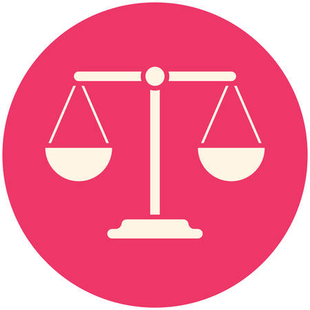 Balance icon (flat design)