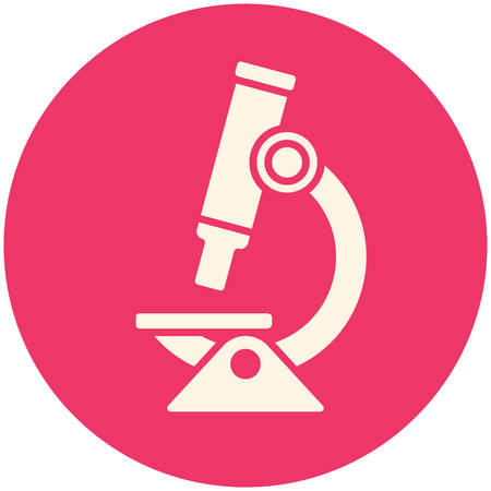 medical research: Microscope icon (flat design)