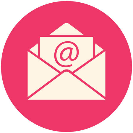 e mail: Email icon (flat design) Illustration