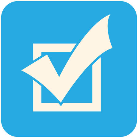 Completed Tasks icon, flat design Illustration