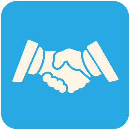 business partnership: Partnership  icon, flat design