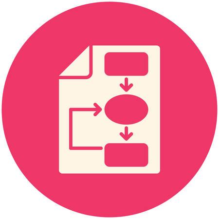 Business plan icon, flat design Illustration