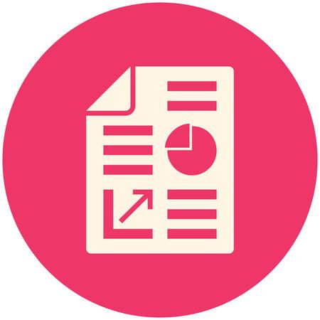 report icon: Business report icon, flat design