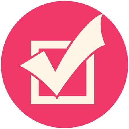 finished: Completed Tasks icon, flat design Illustration