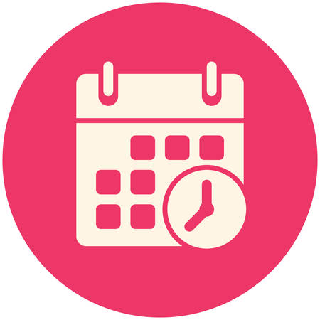 schedule appointment: Meeting Deadlines icon, flat design