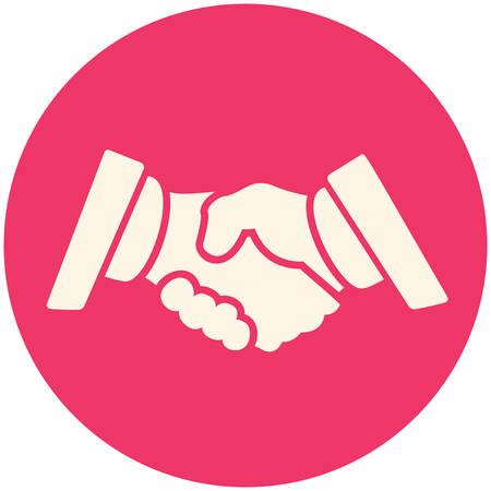 Partnerschaft Symbol, flache Bauform