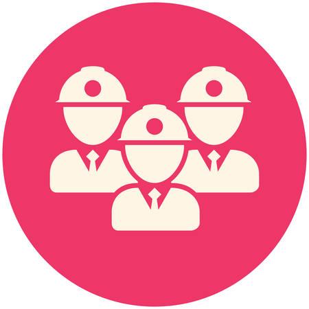 teamwork icon: Teamwork icon, flat design