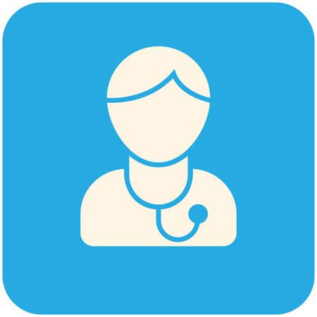 Doctor, modern flat icon Illustration