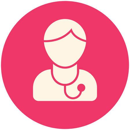 stethoscope icon: Doctor, modern flat icon Illustration