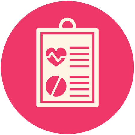 medical notes: Medical report, modern flat icon