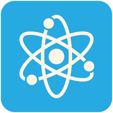 PROTON: Atom, modern flat icon Illustration