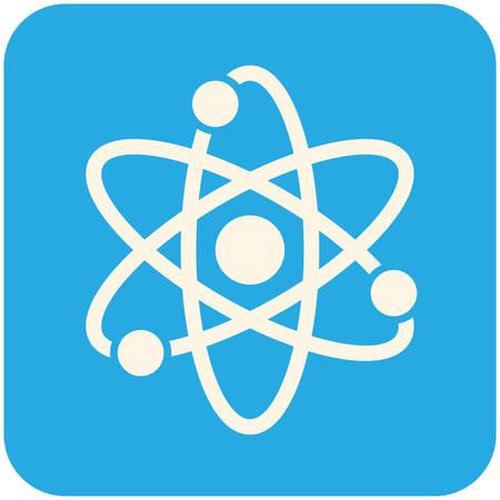 Atom, modern flat icon Illustration