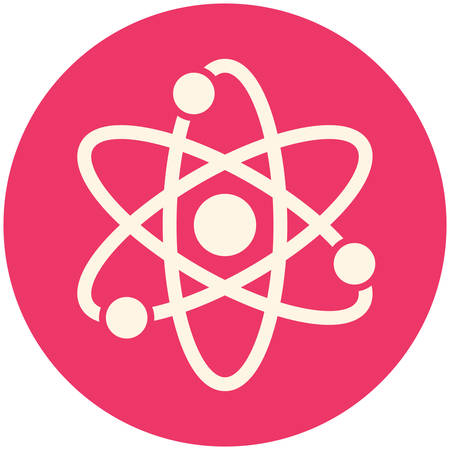 neutron: Atom, modern flat icon Illustration