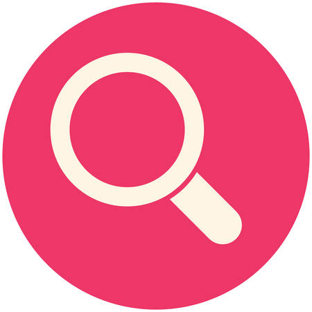 ico: Magnifying glass, modern flat ico