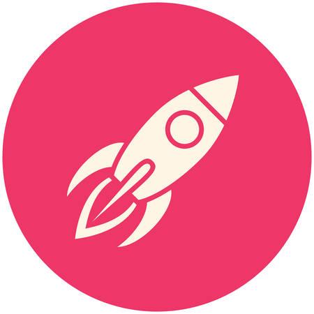 mosca caricatura: Rocket, icono plana moderna